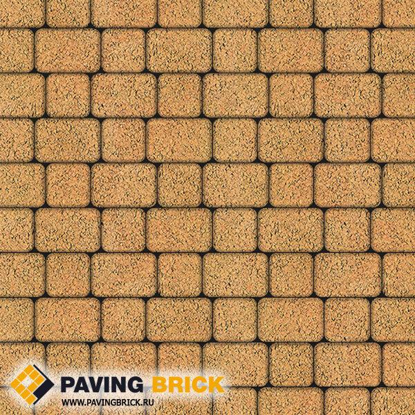 Тротуарная плитка ВЫБОР КЛАССИКО А.1.КО.4 Листопад гладкий комплект из 2-х форматов цвет Сахара - фото 1