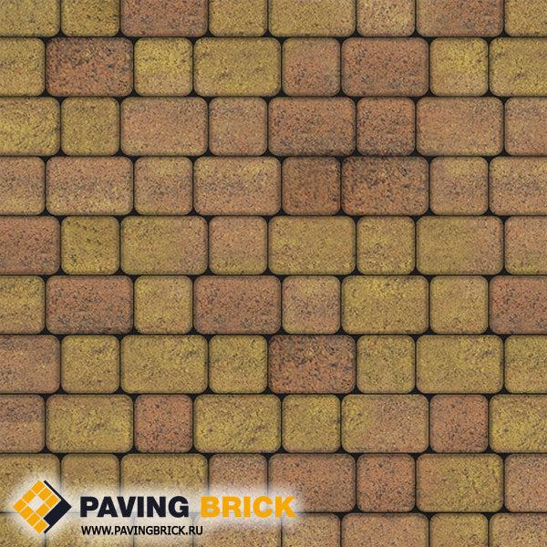 Тротуарная плитка ВЫБОР КЛАССИКО А.1.КО.4 Листопад гладкий комплект из 2-х форматов цвет Савана - фото 1