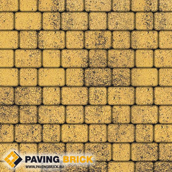Тротуарная плитка ВЫБОР КЛАССИКО А.1.КО.4 Листопад гранит комплект из 2-х форматов цвет Соты - фото 1