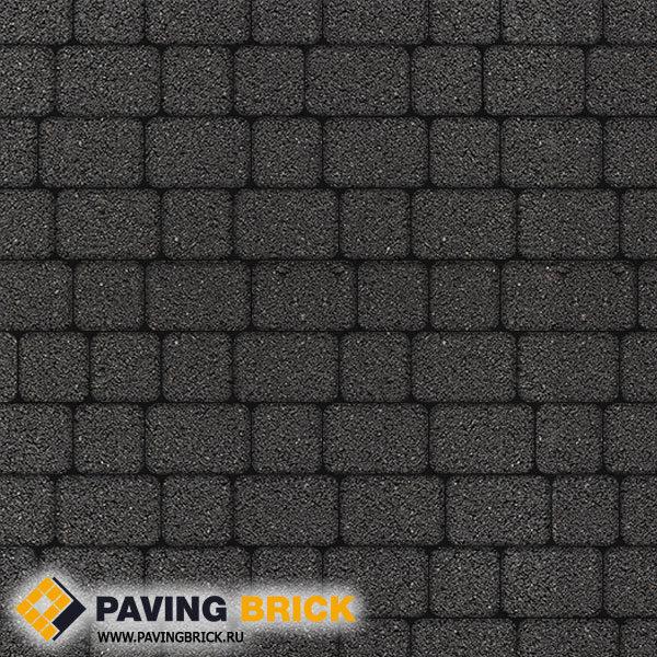 Тротуарная плитка ВЫБОР КЛАССИКО А.1.КО.4 Стандарт гладкий комплект из 2-х форматов цвет Черный - фото 1