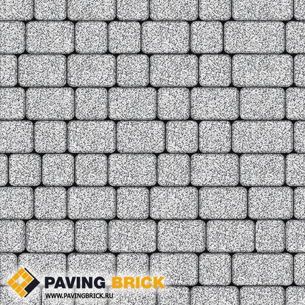 Тротуарная плитка ВЫБОР КЛАССИКО А.1.КО.4 Стоунмикс комплект из 2-х форматов цвет Бело черный - фото 1