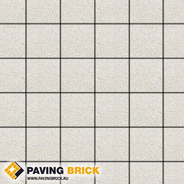 Тротуарная плитка ВЫБОР Ла Линия А.2.К.4 Стандарт гладкий 200х200х40мм цвет Белый - фото 1