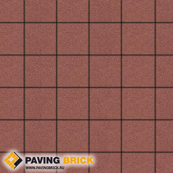 Тротуарная плитка ВЫБОР Ла Линия А.2.К.4 Стандарт гладкий 200х200х40мм цвет Красный - фото 1