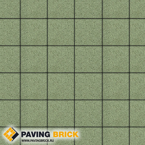 Тротуарная плитка ВЫБОР Ла Линия А.2.К.4 Стандарт гладкий 200х200х40мм цвет Зеленый - фото 1