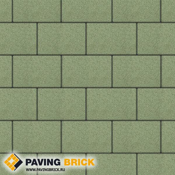 Тротуарная плитка ВЫБОР Ла Линия Б.1.П.8 Гранит 300х200х80мм цвет Зеленый - фото 1