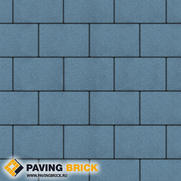 Тротуарная плитка ВЫБОР Ла Линия Б.1.П.8 Стандарт гладкий 300х200х80мм цвет Синий - фото 1
