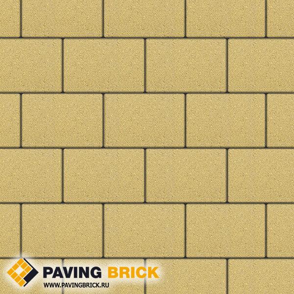 Тротуарная плитка ВЫБОР Ла Линия Б.1.П.8 Стандарт гладкий 300х200х80мм цвет Желтый - фото 1