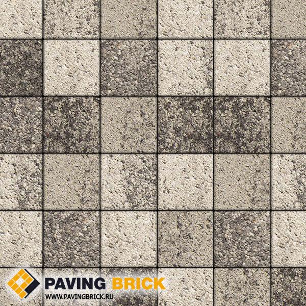 Тротуарная плитка ВЫБОР Ла Линия Б.2.К.6 Листопад гладкий 200х200х60мм цвет Антрацит - фото 1