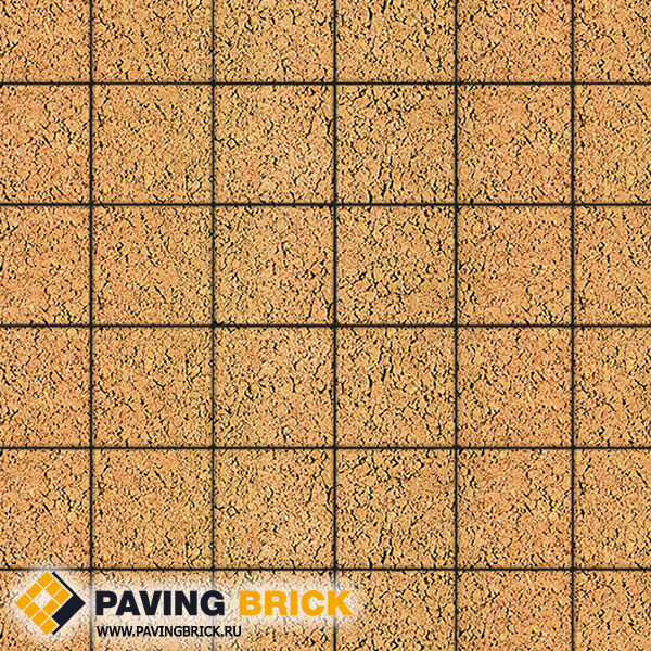 Тротуарная плитка ВЫБОР Ла Линия Б.2.К.6 Листопад гладкий 200х200х60мм цвет Сахара - фото 1