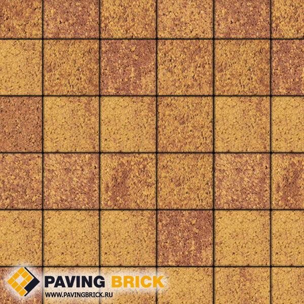 Тротуарная плитка ВЫБОР Ла Линия Б.2.К.6 Листопад гранит 200х200х60мм цвет Каир - фото 1