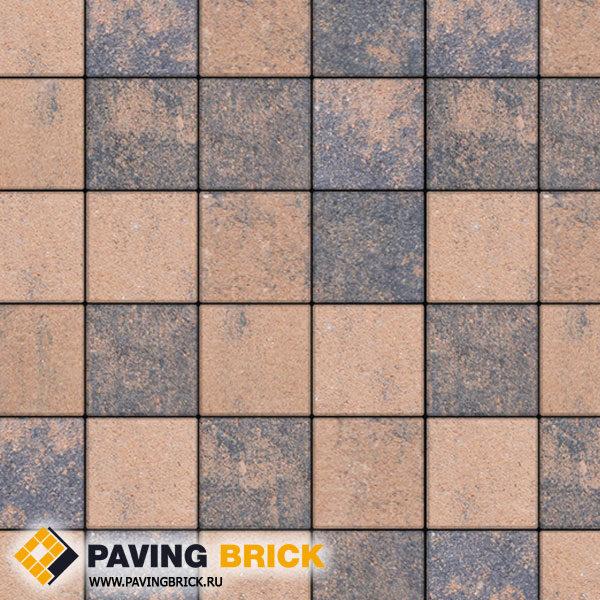 Тротуарная плитка ВЫБОР Ла Линия Б.2.К.6 Листопад гранит 200х200х60мм цвет Мустанг - фото 1