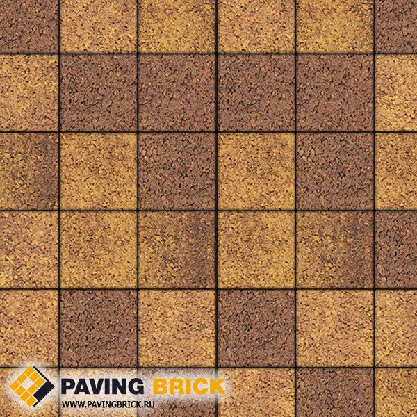 Тротуарная плитка ВЫБОР Ла Линия Б.2.К.6 Листопад гранит 200х200х60мм цвет Осень - фото 1