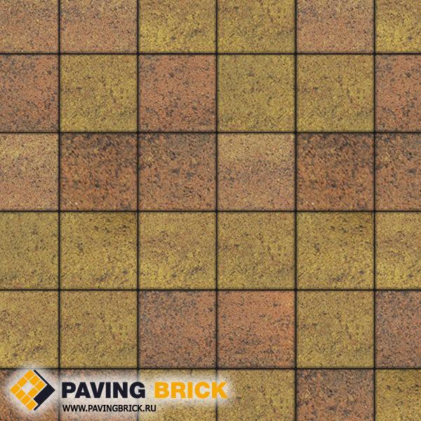 Тротуарная плитка ВЫБОР Ла Линия Б.2.К.6 Листопад гранит 200х200х60мм цвет Савана - фото 1