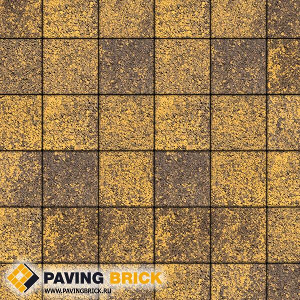 Тротуарная плитка ВЫБОР Ла Линия Б.2.К.6 Листопад гранит 200х200х60мм цвет Янтарь - фото 1