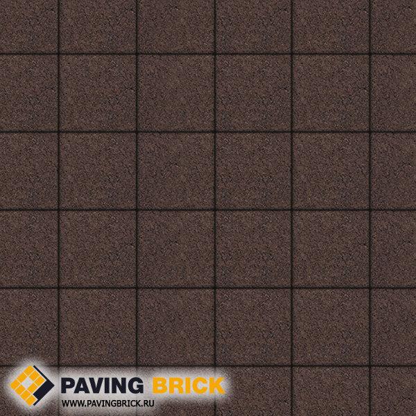 Тротуарная плитка ВЫБОР Ла Линия Б.2.К.6 Стандарт гладкий 200х200х60мм цвет Коричневый - фото 1
