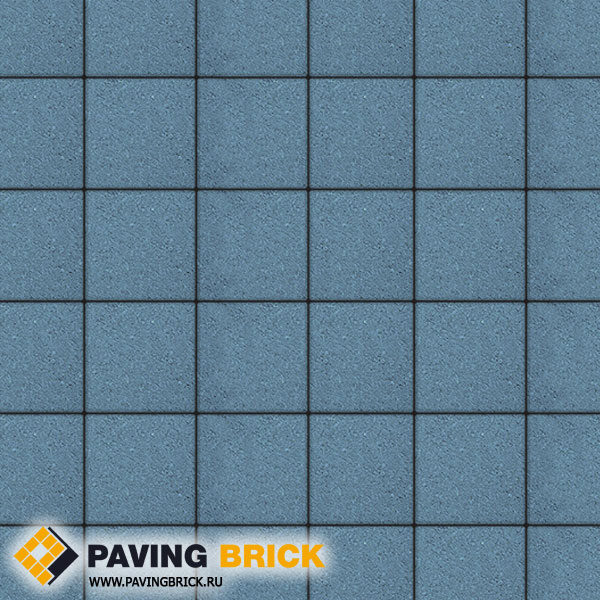Тротуарная плитка ВЫБОР Ла Линия Б.2.К.6 Стандарт гладкий 200х200х60мм цвет Синий - фото 1