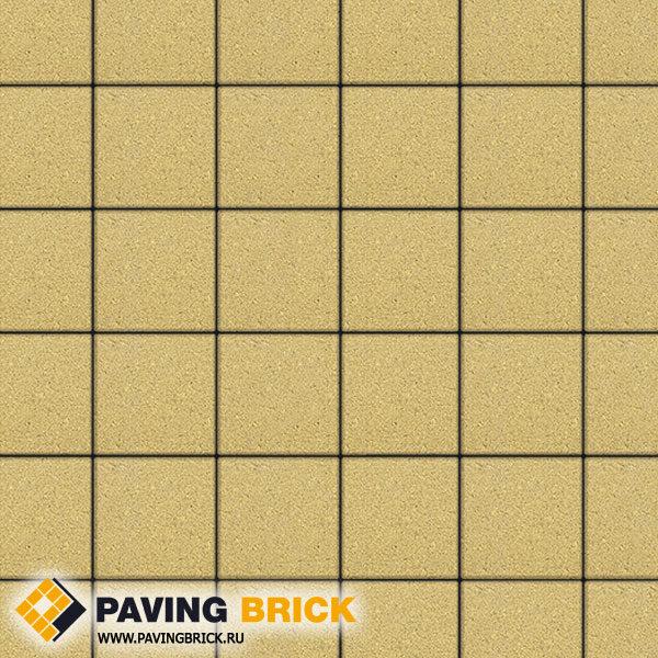 Тротуарная плитка ВЫБОР Ла Линия Б.2.К.6 Стандарт гладкий 200х200х60мм цвет Желтый - фото 1