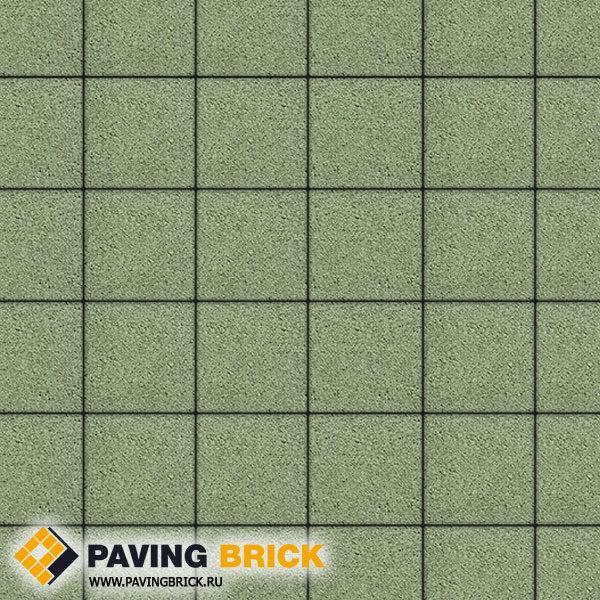 Тротуарная плитка ВЫБОР Ла Линия Б.2.К.6 Стандарт гладкий 200х200х60мм цвет Зеленый - фото 1