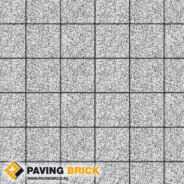 Тротуарная плитка ВЫБОР Ла Линия Б.2.К.6 Стоунмикс 200х200х60мм цвет Бело черный - фото 1