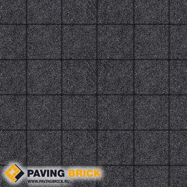 Тротуарная плитка ВЫБОР Ла Линия Б.2.К.6 Стоунмикс 200х200х60мм цвет Черный - фото 1