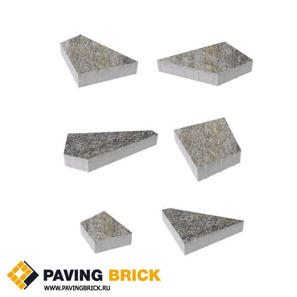 Тротуарная плитка ВЫБОР Оригами Б.4.Фсм.8 Искусственный камень комплект из 6 форматов цвет Габбро - фото 1