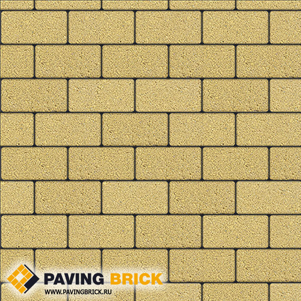 Тротуарная плитка ВЫБОР Ла Линия Б.2.П.8 Стандарт гладкий 200х100х80мм цвет Желтый - фото 1