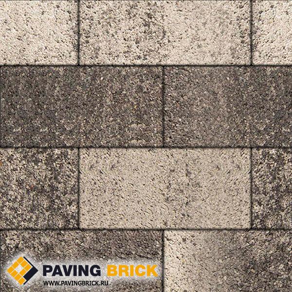 Тротуарная плитка ВЫБОР Ла Линия Б.5.П.8 Листопад гладкий 600х300х80мм цвет Антрацит - фото 1