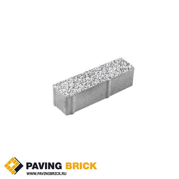 Тротуарная плитка ВЫБОР Паркет Б.8.П.8 Стоунмикс 360х80х80мм цвет Бело черный - фото 1